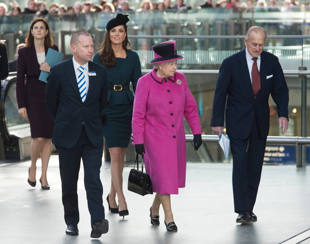 Kate Middleton at the Train Station 2012