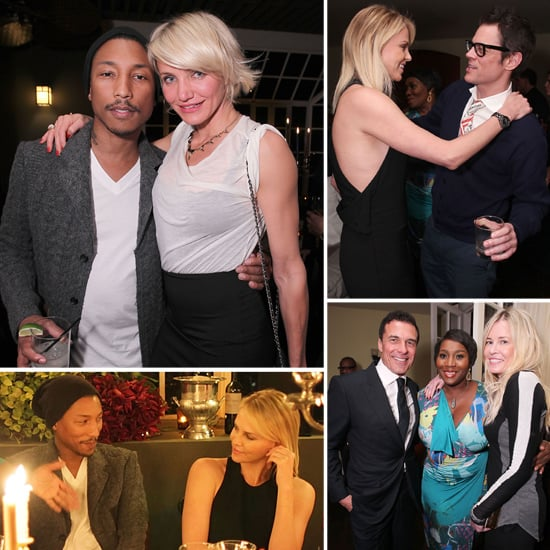 Cameron Diaz and Charlize Theron Raise a Glass For Pharrell Williams