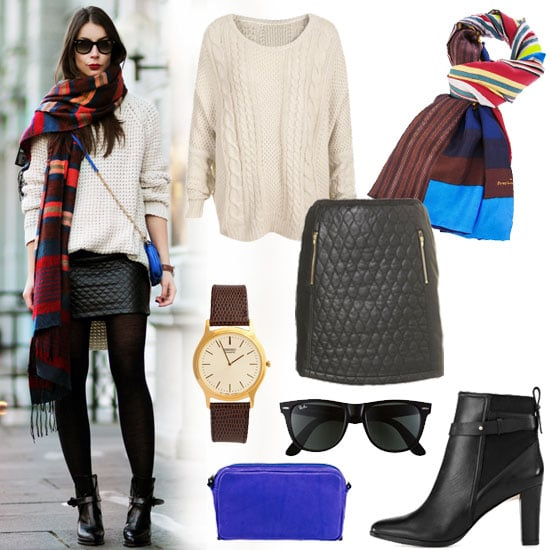 Cute Scarf Street Style Winter 2012