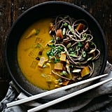 Turmeric-Miso Soup With Shiitakes, Turnips, and Soba