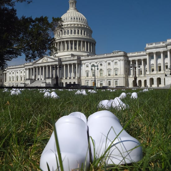 Nurse Shoes Left at US Capitol to Honor COVID-19 Deaths