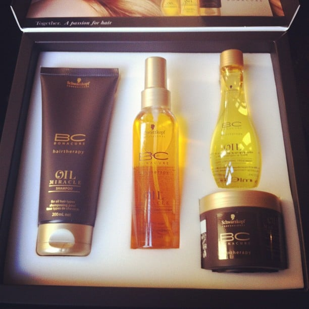 Associate editor Alison had breakfast with Schwarzkopf to learn about their new Oil Miracle range. So luxe.