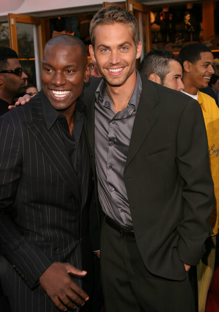 Paul Walker posed with Tyrese at the LA premiere of 2 Fast 2 Furious in June 2003.