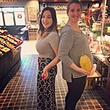 These best friends compared their growing babies to fruits in the supermarket!