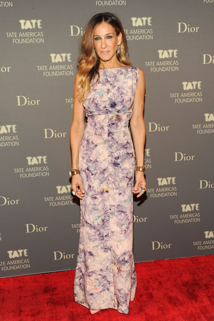 For the 2009 Tate Americas Foundation Artists Dinner, SJP blossomed in a vintage Alexandra New York number and a few statement-making accessories.