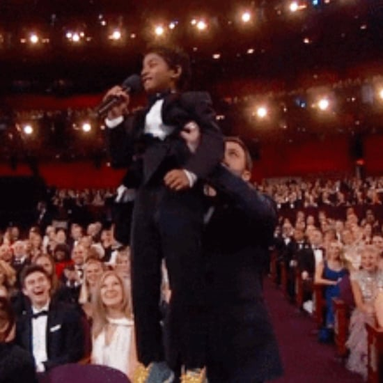Actor Sunny Pawar as The Lion King at the 2017 Oscars