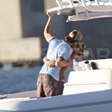 Anna Kournikova kissing Enrique Iglesias in Miami.