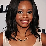 Gabby Douglas posed for photos at the awards.