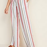 Old Navy Mid-Rise Wide-Leg Linen-Blend Pull-On Pants in Multi Stripe