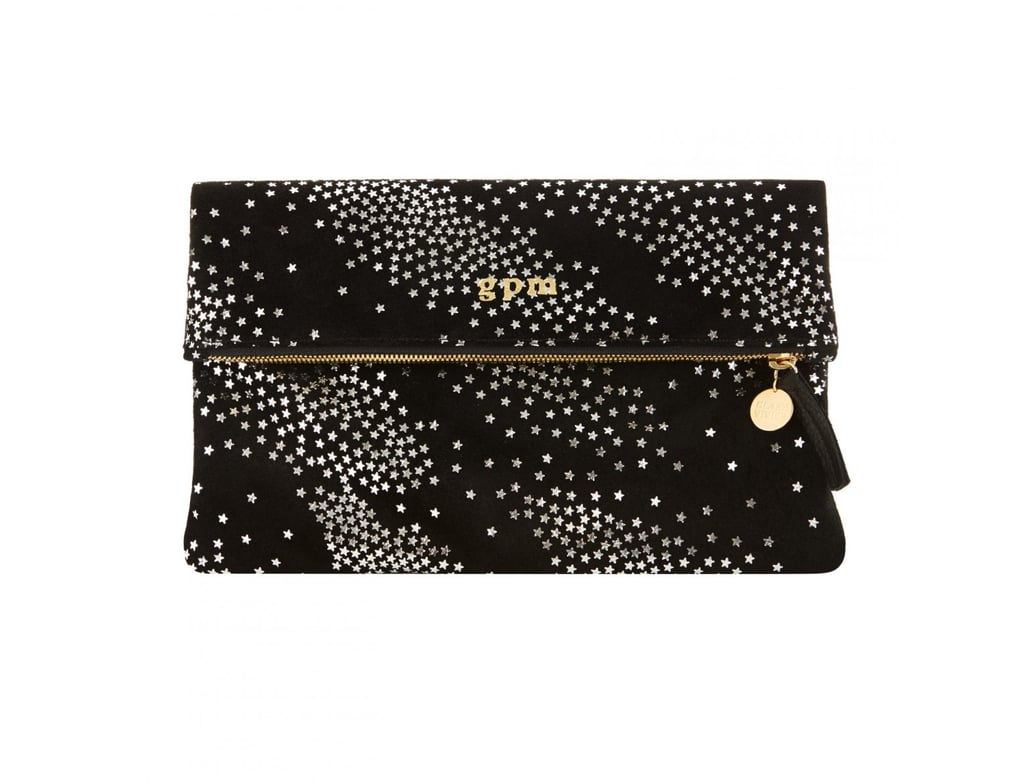 Goop exclusive Clare Vivier foldover star clutch ($260) is a perfect addition to any woman's bag collection. The black suede is luxurious, the stars are playful, and the size is perfect to grab for a night on the town.  —Molly Goodson, VP of content