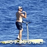 Leonardo DiCaprio Riding Sea Scooter in Italy Pictures 2019