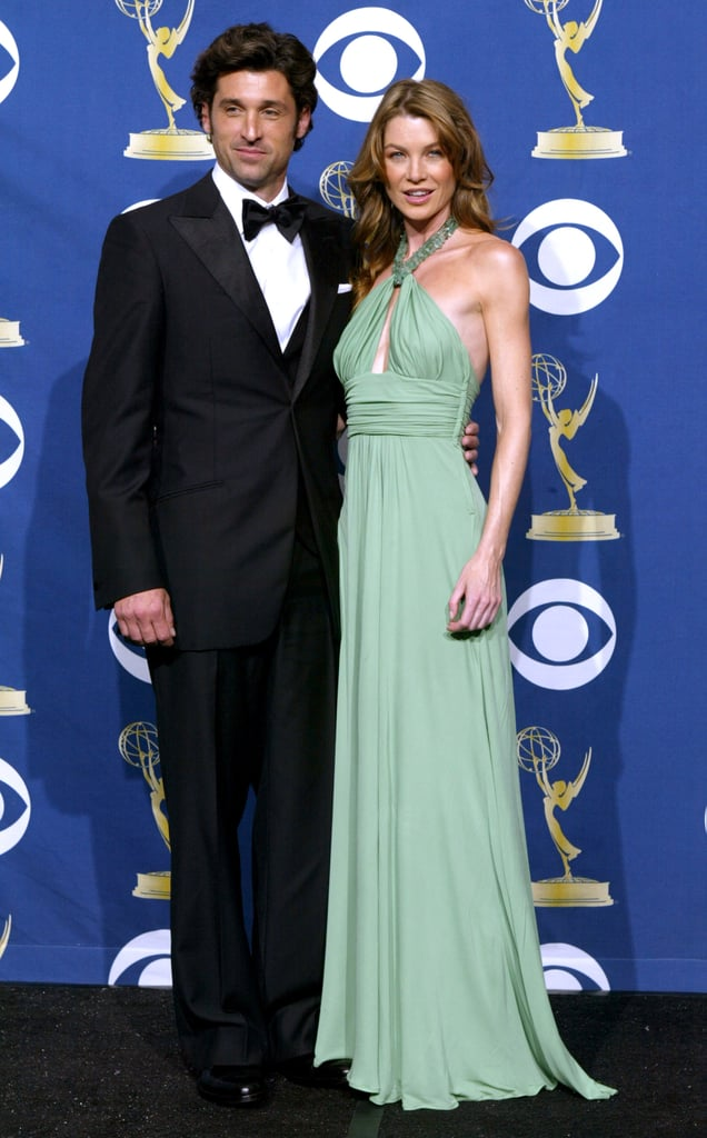 Grey's Anatomy stars Patrick Dempsey and Ellen Pompeo looked like a dashing duo backstage at the 2005 ceremony.