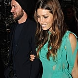 Jessica smiled while out with her husband in NYC in December 2012.