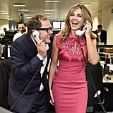 Elizabeth Hurley and Alan Carr