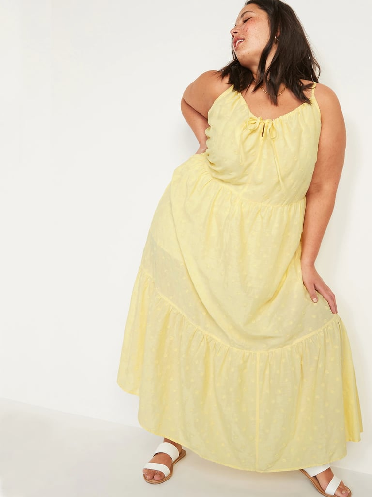 Old Navy Tiered Embroidered Maxi Swing Sundress