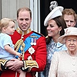 Kate spent time with Prince William and Prince George at the 2015 Trooping the Colour. George got adorable during his first appearance on the Buckingham Palace balcony.
