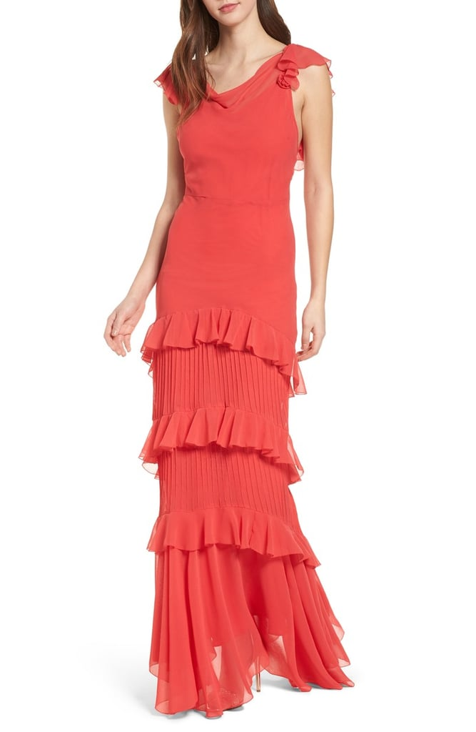Topshop Ruffle Maxi Dress Bridal Shower Dresses Popsugar Fashion