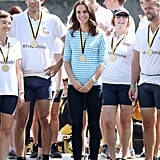 Kate Changed Into a Striped Bateau Top For a Rowing Race in Heidelberg