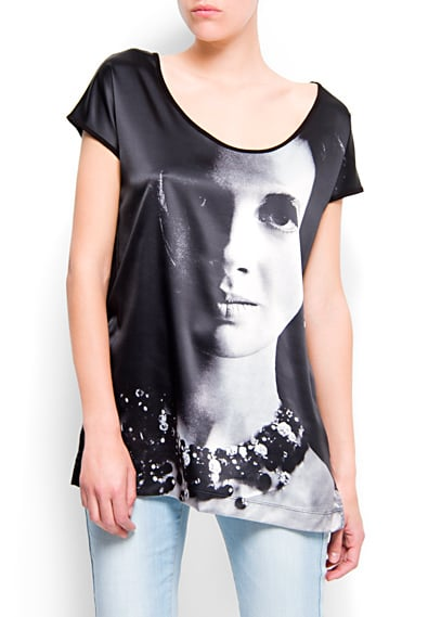 Pair this printed photo tee with your favorite denim pieces for a fresh, modern look.  Mango Printed Photo T-Shirt ($30)