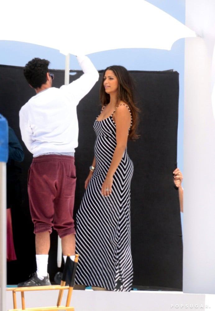 Camila Alves Strikes a Pose For a Miami Beach Shoot