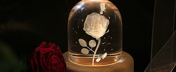 This Rose Crystal Ball Music Box Is So Beautiful