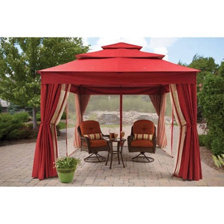 Archer Ridge 3-Tier Gazebo With Netting and Sun Panel