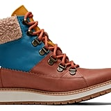 TOMS Waterproof Hazel Leather and Harbor Blue Techy Nylon Mesa Boots