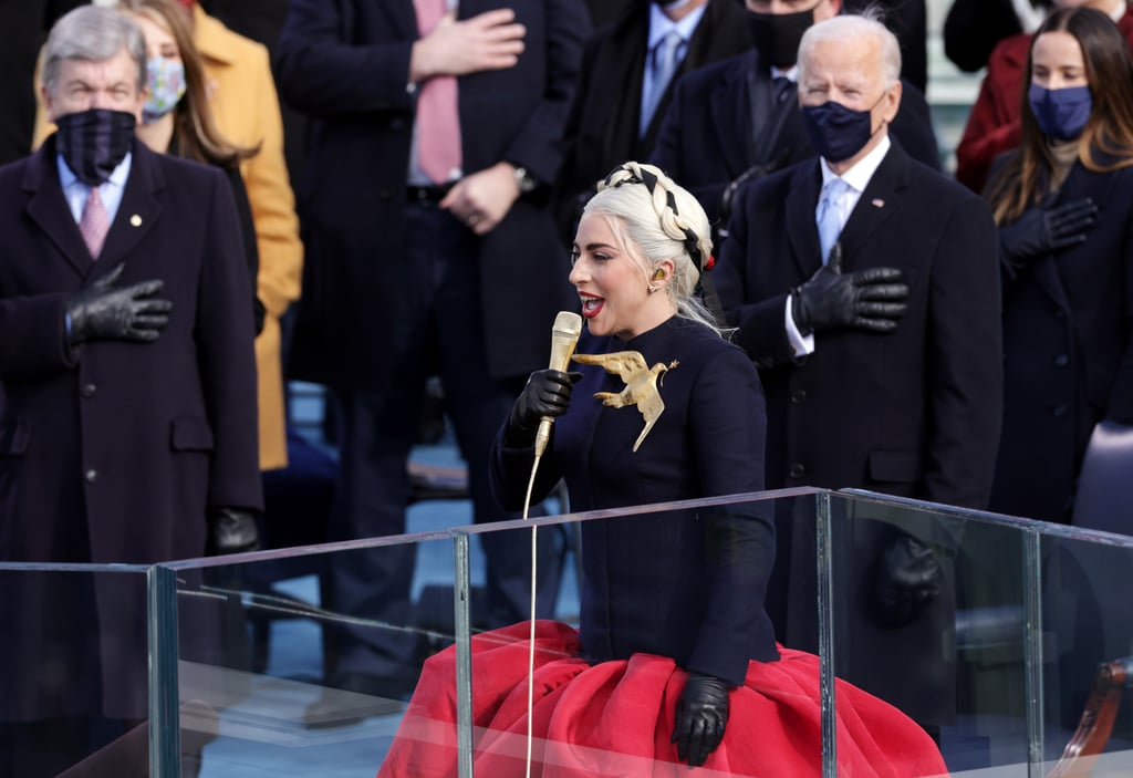 Lady Gaga's Braided Crown Hairstyle at Biden's Inauguration
