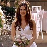 Summer's pretty wedding dress was on point.