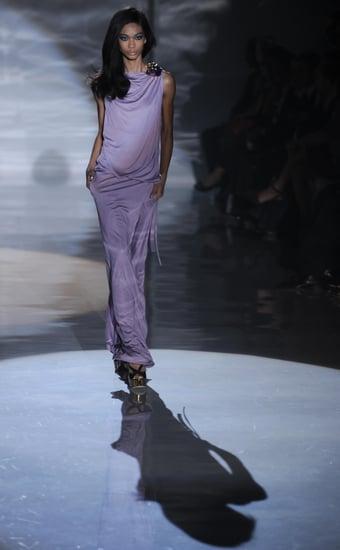 Chanel Iman Brings Black Back at Gucci Spring 2009