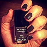 New nails! Alison tried out one of Chanel's newer polishes — this colour is called Vertigo.