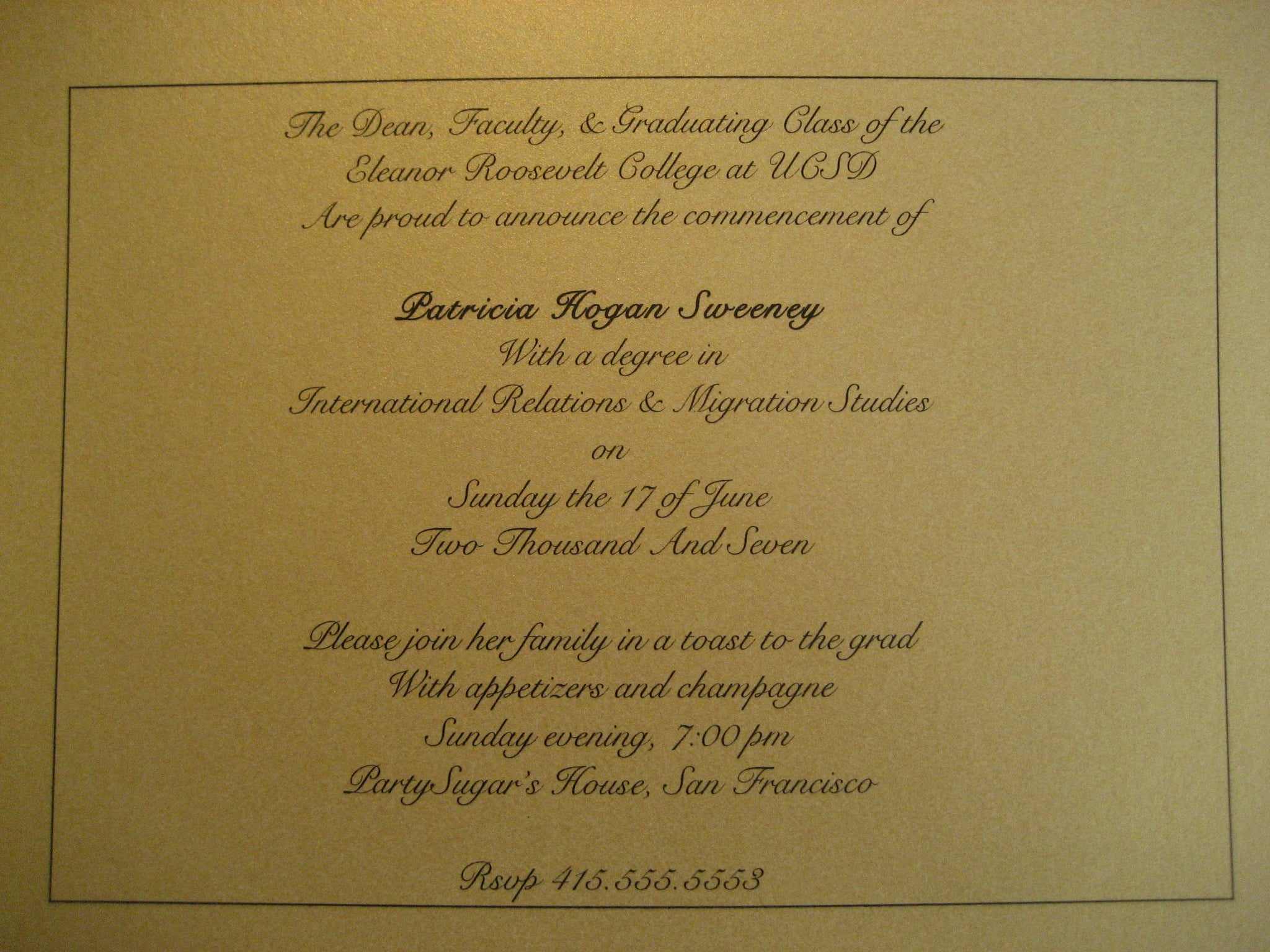 Come Party With Me: Graduation - Invites