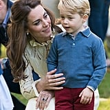 Prince George at Children's Party For Military Families During the Royal Tour of Canada in September 2016