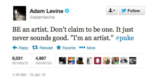 We love Adam Levine.