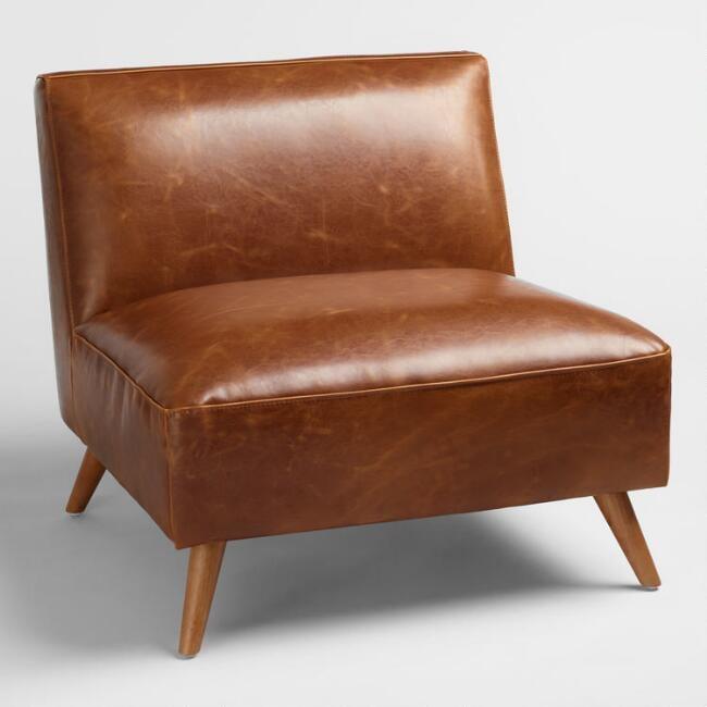 The Best Furniture: Cognac Midcentury Huxley Chair