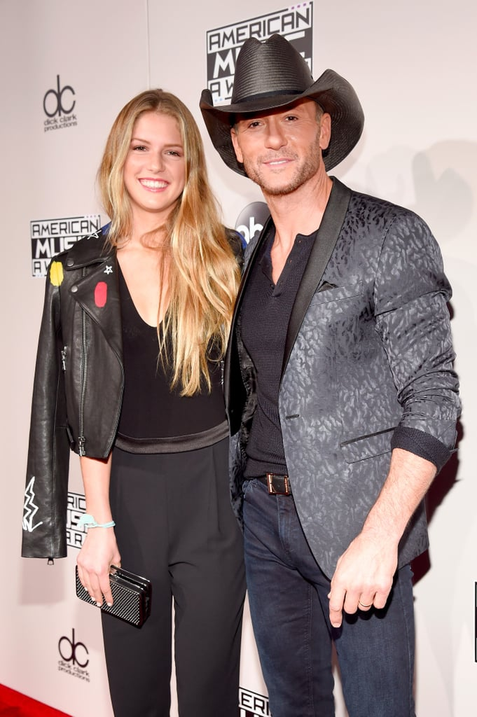 Tim mcgraw and daughter at the american music awards 2016 for How old are faith hill s daughters