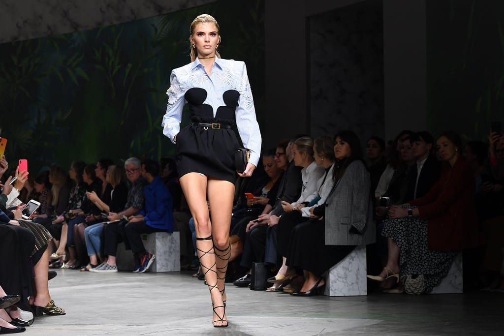 Kendall Jenner Walking for Versace Spring/Summer 2020 at Milan Fashion Week