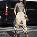 Sara Sampaio Rocked a Fendi Top, Bag, and Boots While in Paris