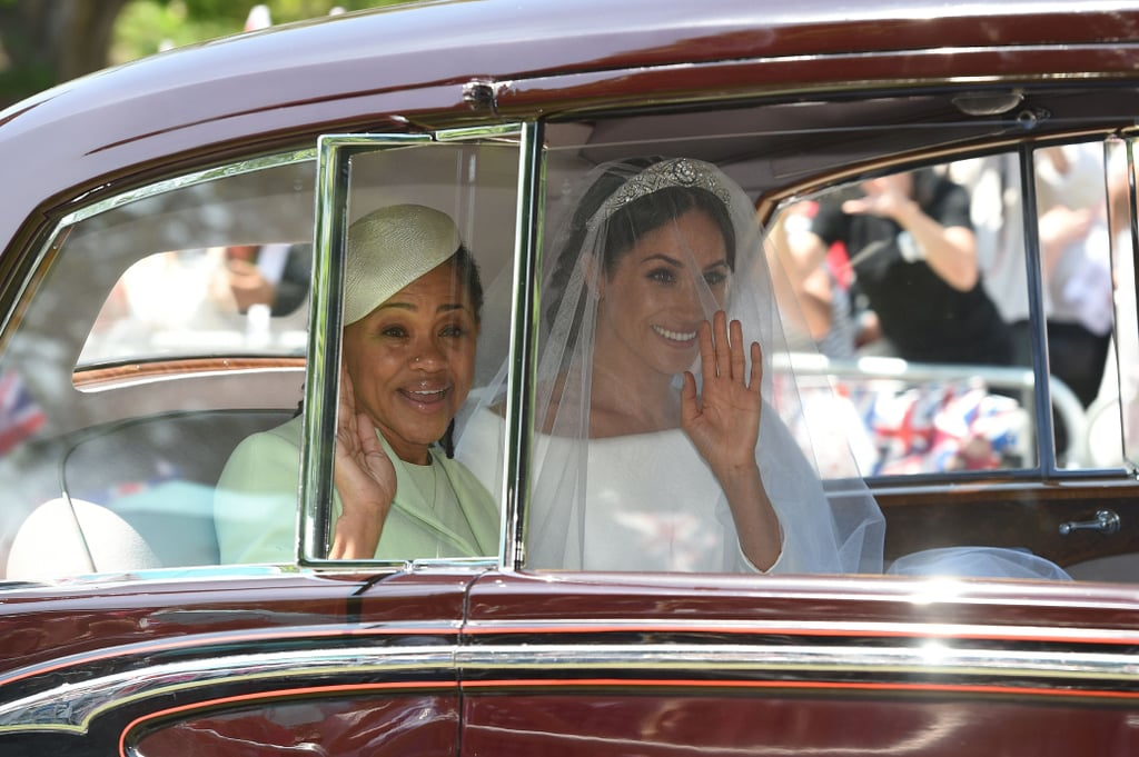 Meghan Arriving With Her Mom, 2018