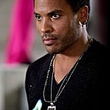Lenny Kravitz as Cinna in The Hunger Games.