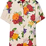 Commission Banker Floral-Print Satin-Twill Shirt