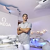 Michael Phelps and Nicole Johnson at Omega Event August 2016
