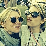 Emma Roberts had fun with a friend at Voodoo Fest in New Orleans. Source: Instagram user emmaroberts6