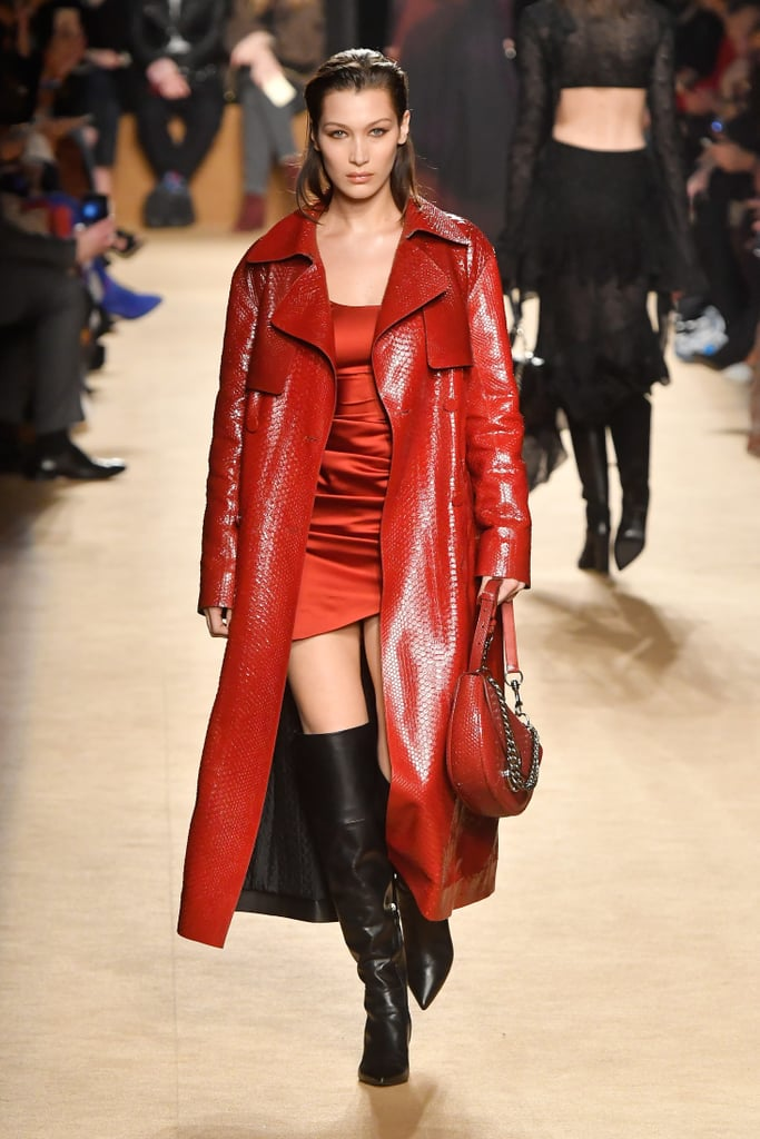 Bella Hadid Walked Down the Runway in a Red Outfit That's Too Hot to Handle