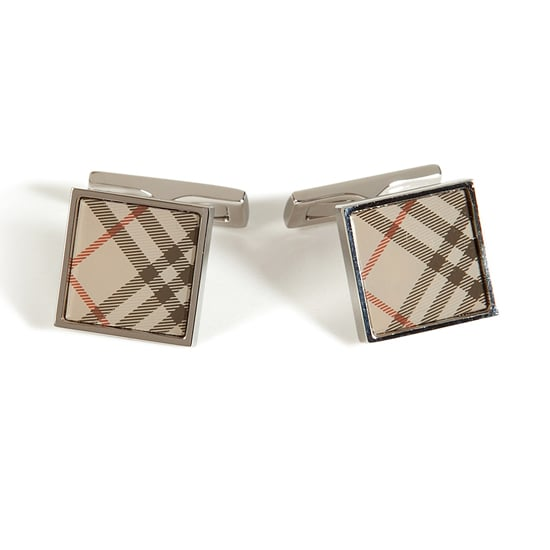 Burberry London Cufflinks in Trench Check