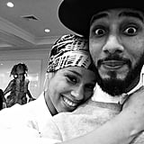 Alicia and Swizz posed for a cute selfie together on Thanksgiving 2014.