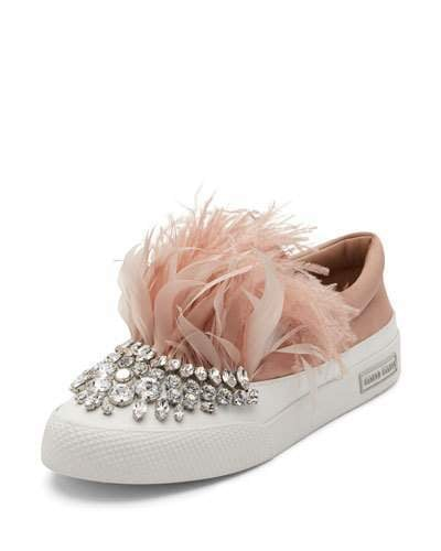 Miu Miu Jeweled Feather Skate Sneakers ($1,150) instantly conjure images of our old favorite board game, Pretty Pretty Princess.