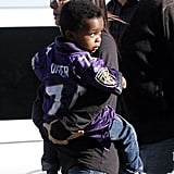 Sandra and Louis Root For The Blind Side's Ravens Star at the Super Bowl