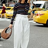 Style Your Sweater With: Trousers, Heels, and a Bag