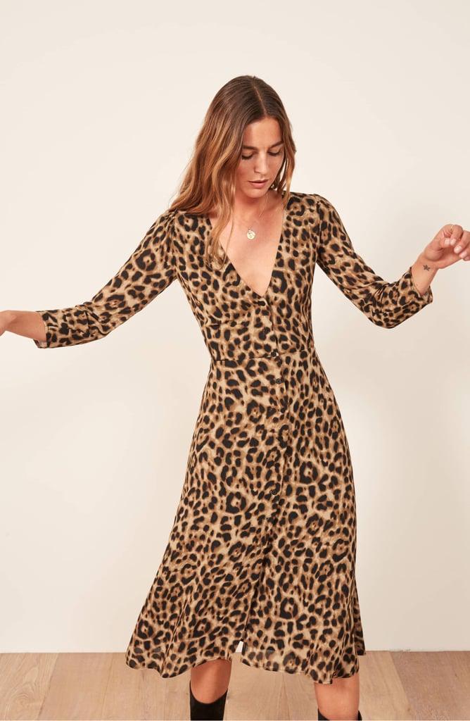 Reformation Alma Midi Dress